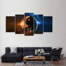 on yin yang canvas wall art with sun and moon yin yang multi panel canvas wall art elephantstock