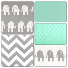 mint green and grey crib bedding. crib bedding set gray mint green elephant deposit nursery and grey d