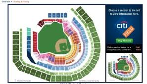 Citi Field Baseball Seating Chart This Is The Seating Chart For Foo Fighters At Citi Field