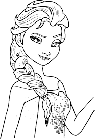 Small Picture Elsa Coloring Pages In Free Elsa Coloring Pages glumme