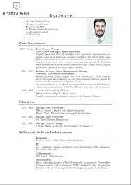 Sample Curriculum Vitae Interesting Curriculum Vitae Format Word Model Of Resume Template Blank For High