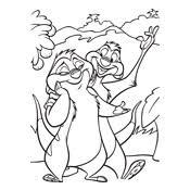 Kleurplaat Lion King Disney 714