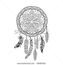 Dream Catcher Tattoo Sketch Dreamcatcher Detailed Feathers Sketch Dreamcatcher Tattoo Stock 50