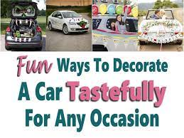 way to decorate a car tastefully for