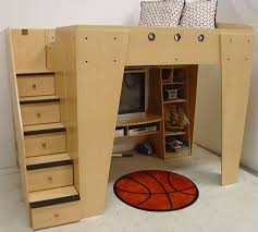 cool loft beds for kids. Perfect Cool Berg Furniture Kids HQ Full Loft With Entertainment And Game Center With Cool Beds For F