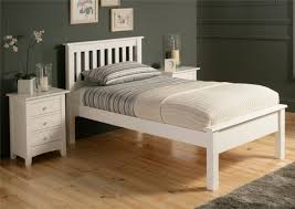 Shaker Bedroom Furniture Sets Shaker Solo White Wooden Bed Frame Lfe