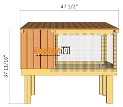 rabbit hutch plans step by construct101