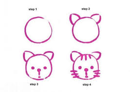 easy cat face drawing. Interesting Cat How To Draw A Cat In Easy Face Drawing