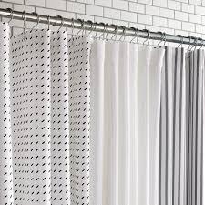 Image Mainstays Classic Unison Home Stitch White Black Shower Curtain