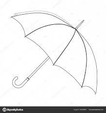 Paraplu Kleurplaat Vector Schets Zwart Wit Open Paraplu