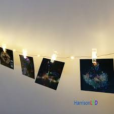 10x 33ft 10m 100 LED copper wire photo hanging clips string lights fairy  starry DIY wall deco for holiday party birthday wedding-in LED String from  Lights ...