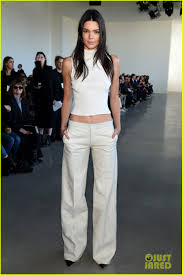 Kendall Jenner Bares Midriff While Attending Calvin Klein Show.