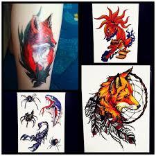 здоровье временные татуировки наклейки индийские женщины перо волка дизайн