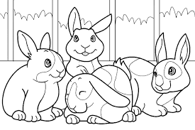 Rabbit coloring pages for kids. Bunny Coloring Pages Best Coloring Pages For Kids