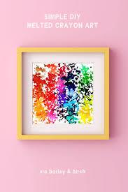 make diy melted crayon art