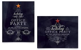office party flyer office holiday party poster template design