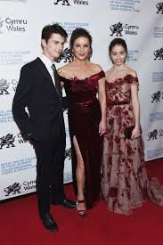 Her first stage appearance was at age nine as one of the orphan girls in a west end production of the musical annie. Catherine Zeta Jones Attends Gala With Daughter Carys And Son Dylan Michael Douglas