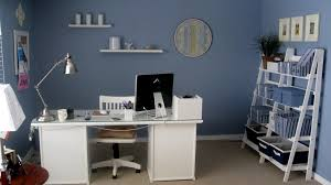 work office decorating ideas gorgeous. Fine Ideas Home Office Decorating Ideas Furniture With Cool Blue Wall Painting Design  And Stylish Chrome Desk Lamp For Work Office Decorating Ideas And Work Gorgeous S
