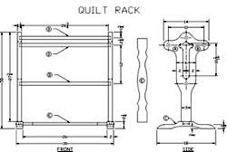 Quilt Racks and Hangers at WoodworkersWorkshop.com & free plans woodworking resource from LeesWoodProjects - free woodworking  plans projects patterns, Quilt Rack Adamdwight.com
