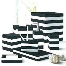 Black And White Toile Bathroom Accessories Elegant Black And White