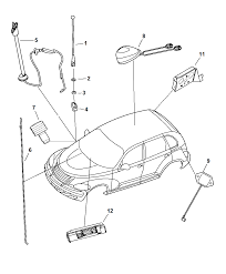 4671904ab genuine mopar antenna base cable and bracket rh moparpartsgiant pt cruiser battery replacement pt