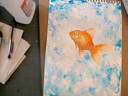 goldfish watercolor painting by michelle christina