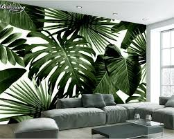 Wallpaper For Living Room Popular Banana Leaves Wallpaper Buy Cheap Banana Leaves Wallpaper