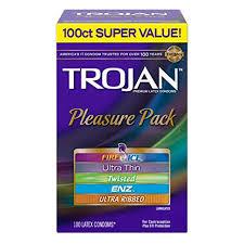 Amazon.com: Trojan Super Value Pleasure Pack Lubricated Condoms ...