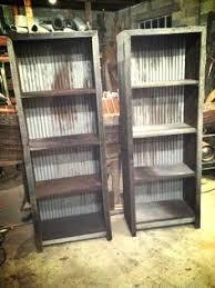 metal furniture plans. Reclaimed Barn Wood And Corregated Metal Shelves Furniture Plans