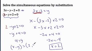 3 12 0 simultaneous equation substitution