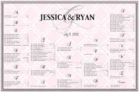 Moroccan Print Seating Chart For A Wedding Bridal Shower