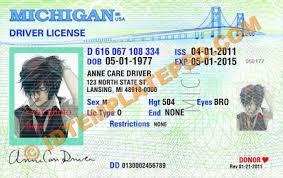 Drivers Template License Michigan Free