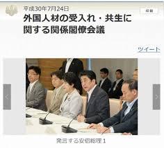 「「外国人材の受入れ・共生に関する関係閣僚会議」」の画像検索結果