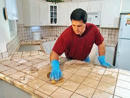 Tile Countertop Kitchen Install Tile Over Laminate Countertop And Backsplash How Tos Diy
