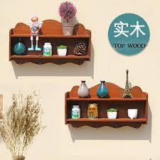 large wood storage rack box organizer wood wall bracket hanging shelf flower rack kitchen holder home