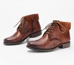 Miz Mooz Leather Lace Up Ankle Boots Luka Qvc Com