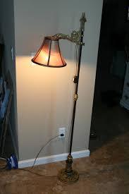 brass floor lamp old