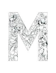Alphabet Letters Coloring Pages Letter I Page Z My A To Color