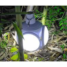 Bóng Đèn Led 4 Cánh 5 BÓNG Năng Lượng Mặt Trời, Đen Led Tích Điện Công