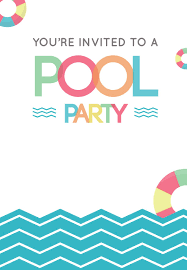 Free Pool Party Invitations Printable Fun Afternoon Pool Party Invitation Template Free In 2019