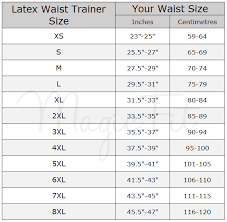 Australian Size Chart Measurements Waist Trainer Size Chart Waist Training Products Australia