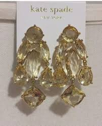 kate spade nwt champagne statement chandelier earrings