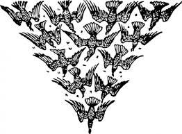 三角形の鳥鳥鶏自動巣の飛行 クリップ アート フリー クリップ アート