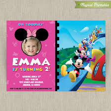 Disney Minnie Mouse Customizable Printable Party Invitation With Photo