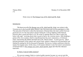dr jekyll and mr hyde gcse english marked by teachers com document image preview