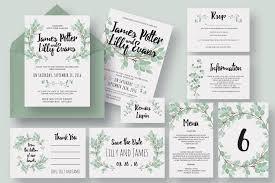90 gorgeous wedding invitation templates design shack Wedding Cards Psd Free eucalyptus wedding invitation suite wedding cards psd free download