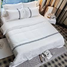 dobby white stripe jacquard hotel