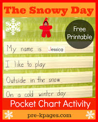 Chart Activities For Preschool Snowy Day Pocket Chart Activity