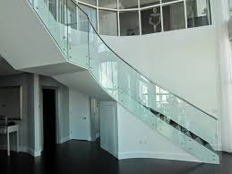 glass staircase modern railing design