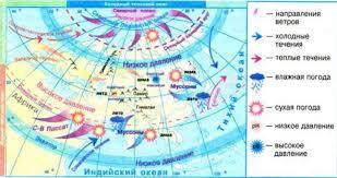 Влияние географической широты на климат Евразии География  Рис 173 Особенности климатообразующих факторов Евразии